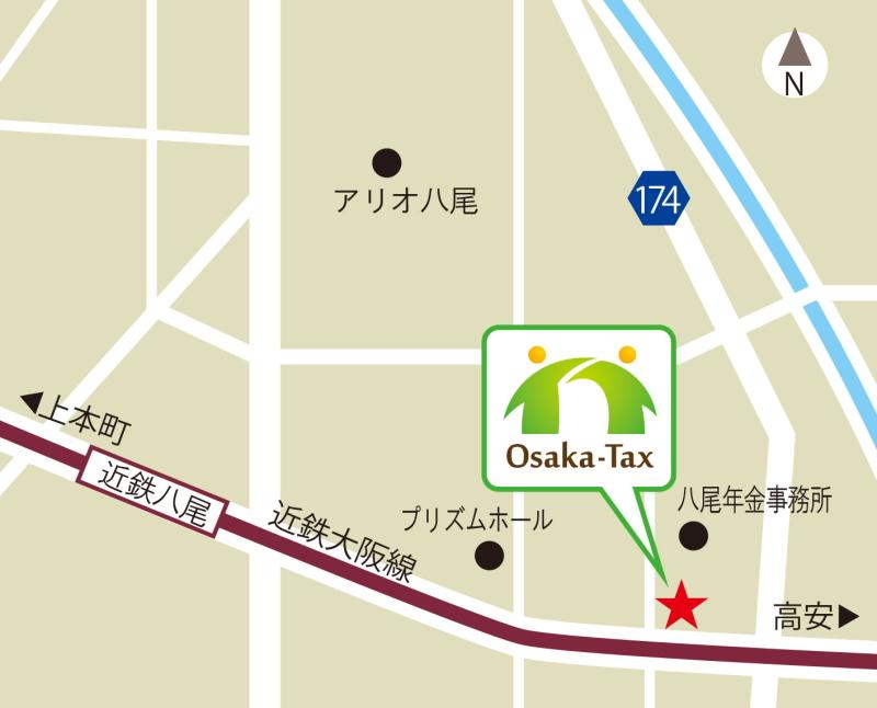 大阪総合労務会計事務所-周辺地図-